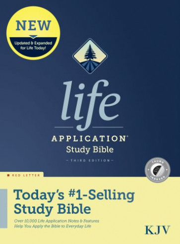 KJV Life Application Study Bible, Third Edition (Red Letter, Hardcover, Indexed) - Hardcover With printed dust jacket and thumb index