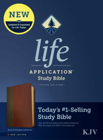 KJV Life Application Study Bible, Third Edition (Red Letter, LeatherLike, Brown/Mahogany) - Leather / fine binding Brown/Mahogany With ribbon marker(s)
