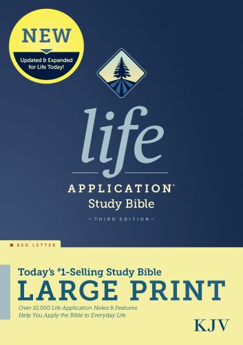 KJV Life Application Study Bible, Third Edition, Large Print (Red Letter, Hardcover) - Hardcover With printed dust jacket