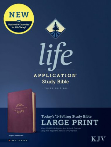 KJV Life Application Study Bible, Third Edition, Large Print (Red Letter, LeatherLike, Purple) - Leather / fine binding Purple With ribbon marker(s)