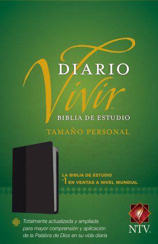 Biblia de estudio del diario vivir NTV, tamaño personal (Letra Roja, SentiPiel, Negro) - LeatherLike Black With ribbon marker(s)