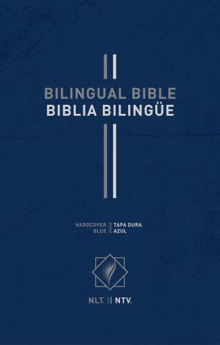 Bilingual Bible / Biblia bilingüe NLT/NTV (Hardcover, Blue) - Hardcover Blue