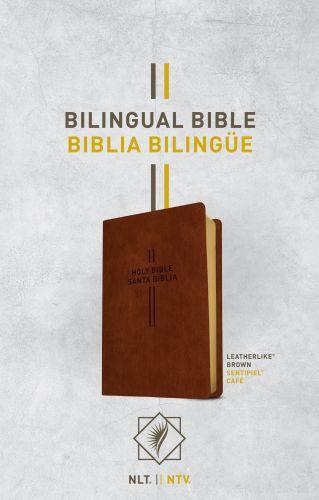 Bilingual Bible / Biblia bilingüe NLT/NTV (LeatherLike, Brown) - LeatherLike Brown