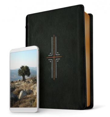 Filament Bible NLT (LeatherLike, Black, Indexed) - LeatherLike Black Leather, imitation With thumb index