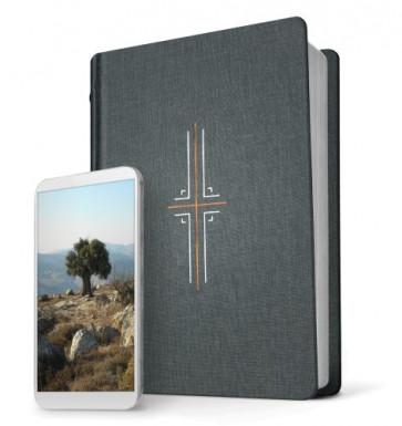 Filament Bible NLT (Hardcover Cloth, Gray, Indexed) - Hardcover Gray Cloth With thumb index