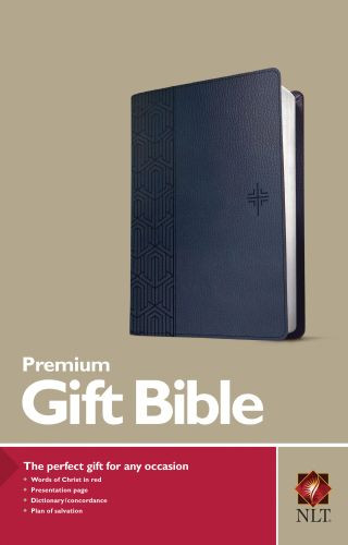 Premium Gift Bible NLT (Red Letter, LeatherLike, Blue) - LeatherLike Blue With ribbon marker(s)