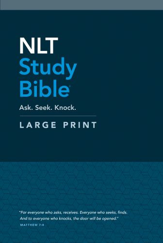 NLT Study Bible Large Print (Red Letter, Hardcover) - Hardcover