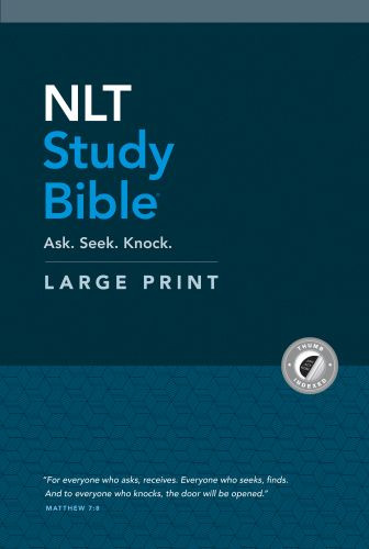 NLT Study Bible Large Print (Red Letter, Hardcover, Indexed) - Hardcover With thumb index