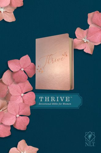 NLT THRIVE Devotional Bible for Women (LeatherLike, Rose Metallic ) - LeatherLike Rose Metallic With ribbon marker(s)