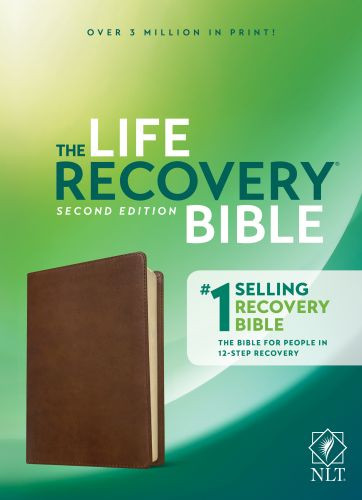 NLT Life Recovery Bible, Second Edition (LeatherLike, Rustic Brown) - LeatherLike Rustic Brown With ribbon marker(s)