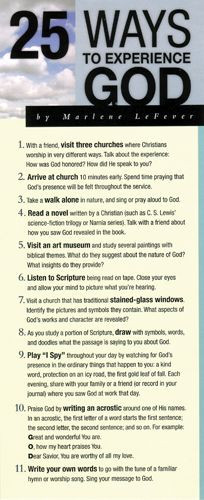 25 Ways to Experience God 50-pack - Cards
