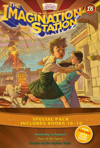 Imagination Station Books 3-Pack: Doomsday in Pompeii / In Fear of the Spear / Trouble on the Orphan Train - Softcover