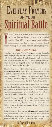 Everyday Prayers for Your Spiritual Battle 50-pack - Cards