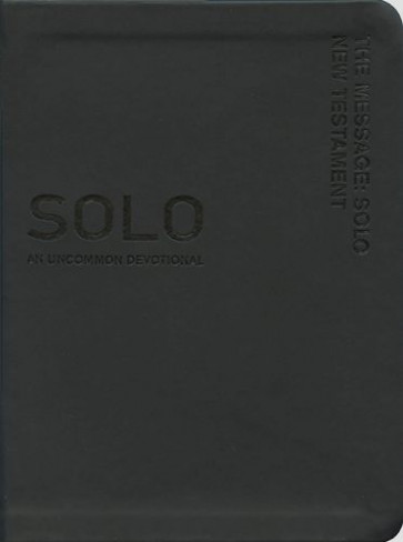 The Message Solo New Testament - Leather-Look Black