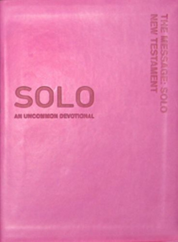 The Message Solo New Testament - Leather-Look Pink