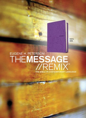 The Message//REMIX - Leather-Look Purple With ribbon marker(s)