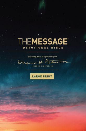 The Message Devotional Bible, Large Print (Hardcover) - Hardcover