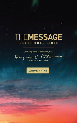 The Message Devotional Bible, Large Print (Softcover) - Softcover