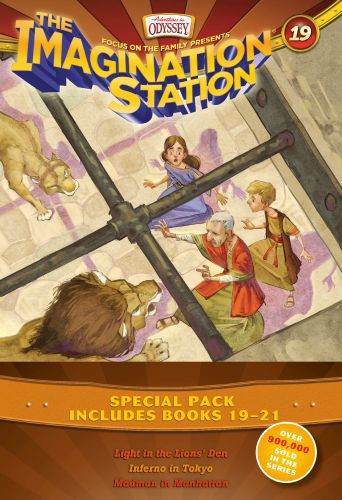 Imagination Station Books 3-Pack: Light in the Lions' Den / Inferno in Tokyo / Madman in Manhattan - Softcover