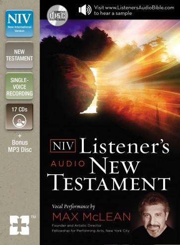 NIV, Listener's Audio Bible, New Testament, Audio CD - CD-Audio