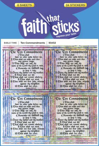 Bibles At Cost - Ten Commandments - Stickers - 1-800-778-8865