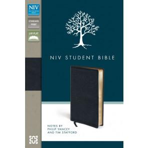 NIV Student Bible - Bonded Leather, Black