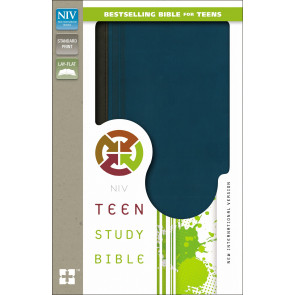 Teen Study Bible, NIV - Imitation Leather, With ribbon marker(s) Graphite Blue