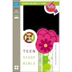 Teen Study Bible, NIV - Imitation Leather, With ribbon marker(s) Black and Pink
