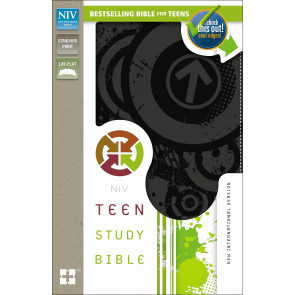 Teen Study Bible, NIV - Imitation Leather, With ribbon marker(s) Charcoal