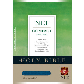 Compact Edition Bible NLT - LeatherLike Navy With ribbon marker(s)