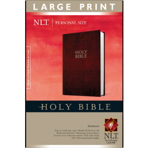Holy Bible NLT, Personal Size Large Print edition - Hardcover
