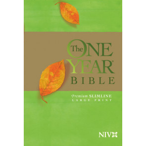 The One Year Bible Premium Slimline LP NIV - Softcover With ribbon marker(s)
