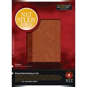 NLT Study Bible, TuTone - LeatherLike With printed dust jacket