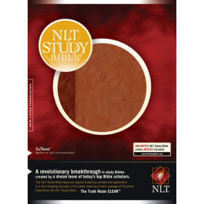 NLT Study Bible, TuTone - LeatherLike Brown/Tan With printed dust jacket and thumb index
