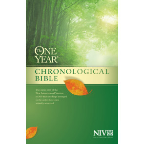 The One Year Chronological Bible NIV - Hardcover With thumb index