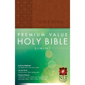 Premium Value Slimline Bible NLT - LeatherLike With ribbon marker(s)