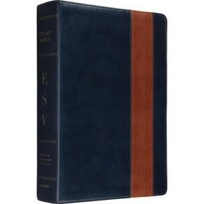 ESV Study Bible (TruTone) - Imitation Leather Navy/Tan, Band Design, With ribbon marker(s)