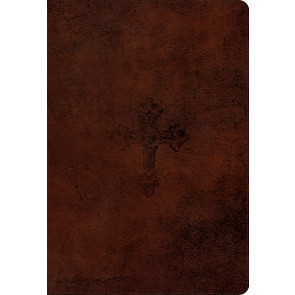 ESV Student Study Bible (TruTone) - Imitation Leather, Walnut, Weathered Cross With ribbon marker(s)
