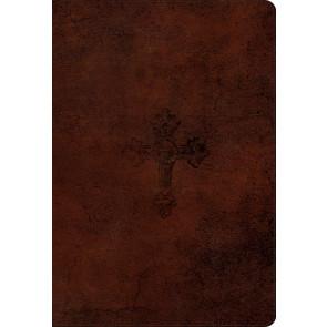 ESV Student Study Bible (TruTone) - Imitation Leather, Walnut, Weathered Cross With ribbon marker(s)