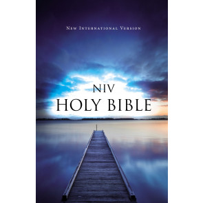 NIV, Outreach Bible, Paperback, Blue - Softcover