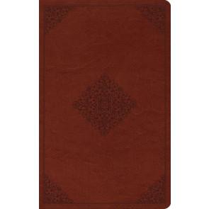 ESV Large Print Value Thinline Bible (TruTone, Tan, Ornament Design) - Imitation Leather
