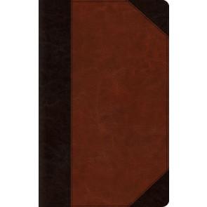ESV Large Print Thinline Bible (TruTone, Brown/Cordovan, Portfolio Design) - Imitation Leather With ribbon marker(s)