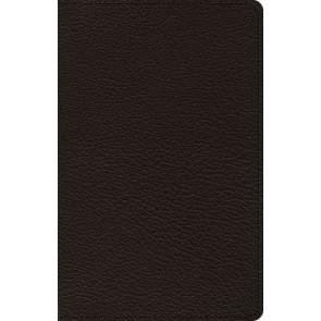 ESV Premium Thinline Bible (Goatskin, Black) - Genuine Leather With ribbon marker(s)