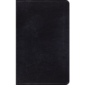 ESV Thinline Bible (Black) - Genuine Leather With ribbon marker(s)