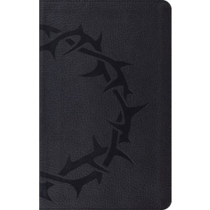 ESV Thinline Bible (TruTone, Charcoal, Crown Design) - Imitation Leather With ribbon marker(s)