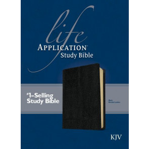 KJV Life Application Study Bible, Second Edition (Red Letter, Bonded Leather, Black) - Bonded Leather Black With ribbon marker(s)