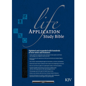 KJV Life Application Study Bible, Second Edition (Red Letter, Bonded Leather, Black, Indexed) - Bonded Leather Black With thumb index and ribbon marker(s)