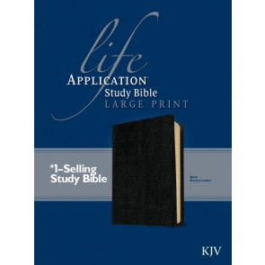 KJV Life Application Study Bible, Second Edition, Large Print (Red Letter, Bonded Leather, Black) - Bonded Leather Black With ribbon marker(s)