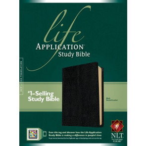 NLT Life Application Study Bible, Second Edition (Red Letter, Bonded Leather, Black) - Bonded Leather Black With ribbon marker(s)