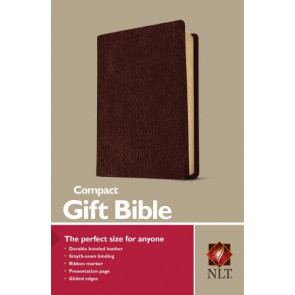 Compact Gift Bible NLT (Bonded Leather, Burgundy/maroon) - Bonded Leather Burgundy With ribbon marker(s)